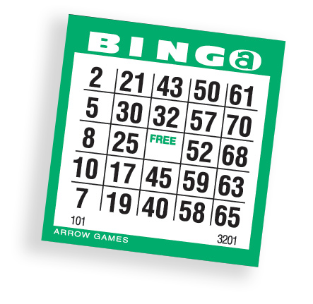 Mini Dab-All-75 Bingo Paper