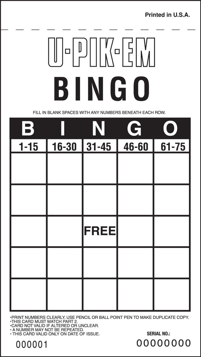 U-PIK-EM Bingo - 25 Spaces