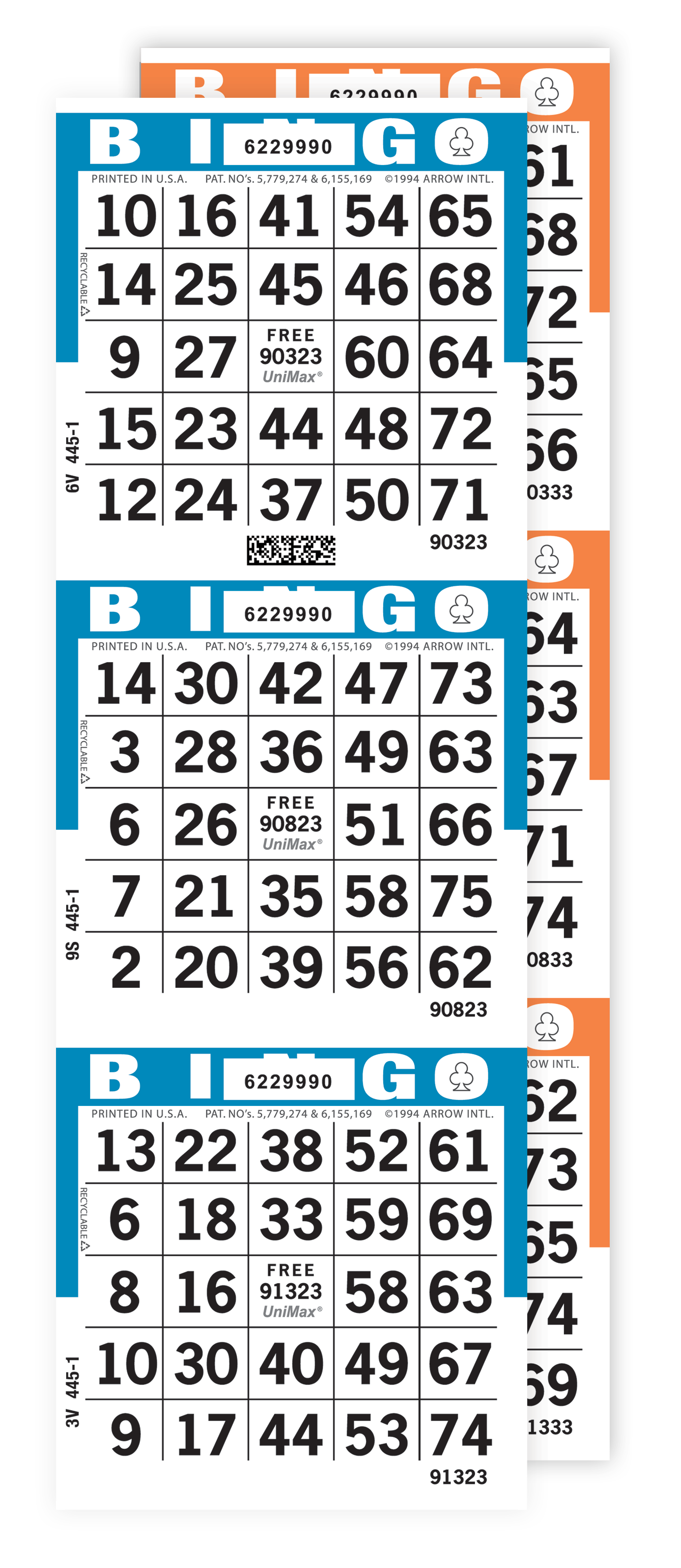 UniMax 3-On Bingo Paper